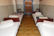 4-beds room in relaxation premises of locomotive crews